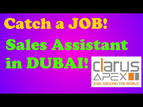 ClarusApex: Get A Job - Sales Assistant in Chocolate Shop in Bahrain