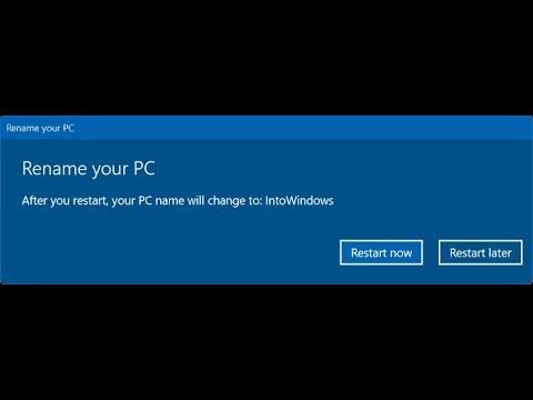 How to change computer name || Windows 10/8.1/8/7