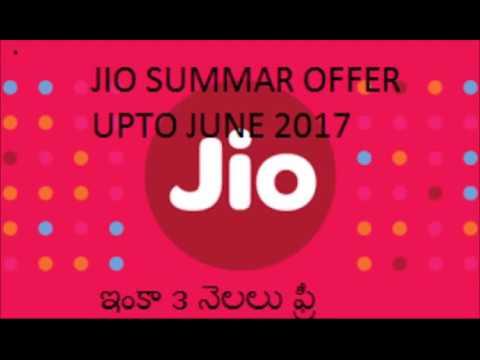 Jio summar offer upto june 2017