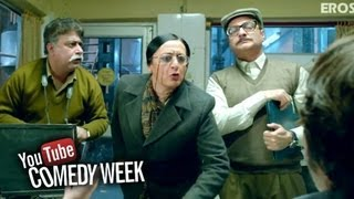 Vinay Pathak & Dolly Ahluwalia conduct a raid - Comedy Sequence - Bajatey Raho