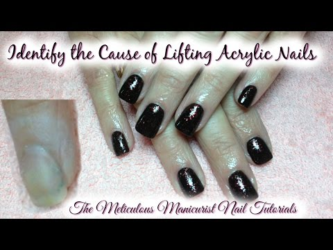 Acrylic Nails: How to Repair Lifted Acrylic During Nail Fill 💅