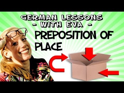 German Lesson 24 - The prepositions of place