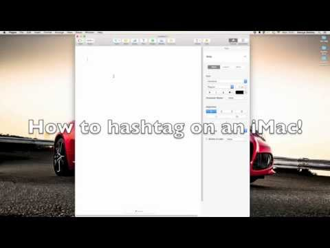 How To Hashtag On A Mac *NEW AND EASY* 1 Minute.