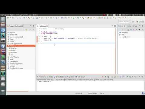 Build C++ using Eclipse on Linux Ubuntu 16.04