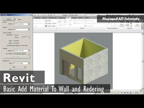 Revit Beginner How To Add Material And Rendering Basic
