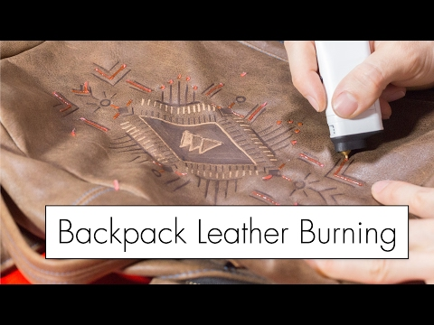 Leather Burning My Backpack with the 3DSimo Mini 3D Pen