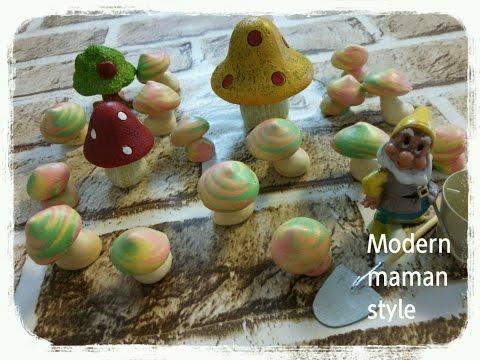 材料2つ♡Colorful mushroom♡カラフルきのこ♪焼きメレンゲ meringue♡