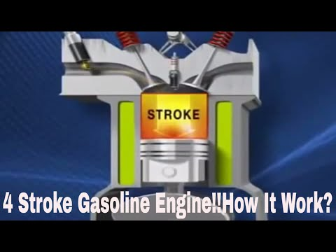 Working of a bicycle 4 stroke  engine HD
