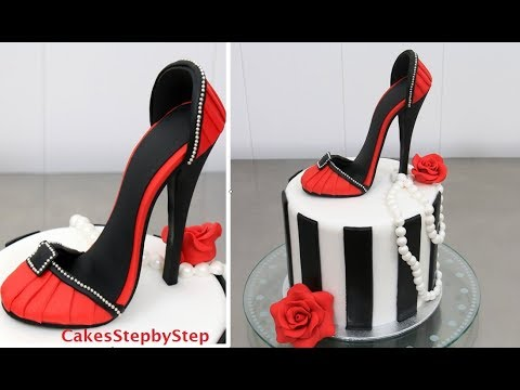 SHOE CAKE - How To Make a High Heel Stiletto Shoe by Cakes StepbyStep