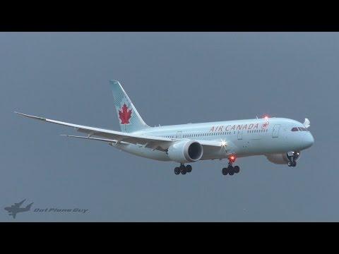 INAUGURAL Air Canada Boeing 787-8 Landing at Brisbane Airport