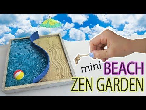 Mini Beach Zen Garden DIY Water Slime and Sand | Fun Kids Crafts