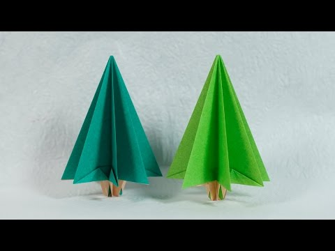 Easy Paper Tree - Origami Christmas Tree Tutorial (Henry Phạm)