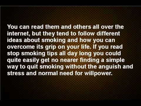 The best stop smoking tip ever!