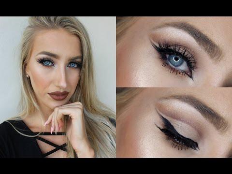 Cut Crease Makeup Tutorial ♡ How 2 get Bigger Almond Shaped Eyes & Brown Lips!