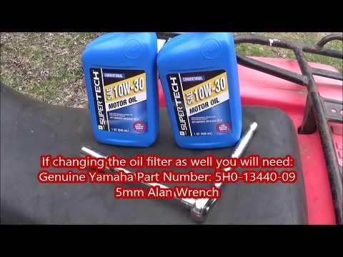 How to change the oil on a Yamaha YFM225 Moto-4 Four Wheeler ATV