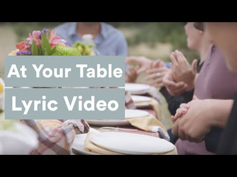 At Your Table - Jared Anderson (Lyric Video)