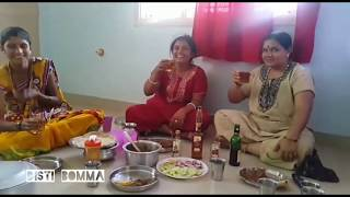 Indian Auntys Drinking Visky And Vodka