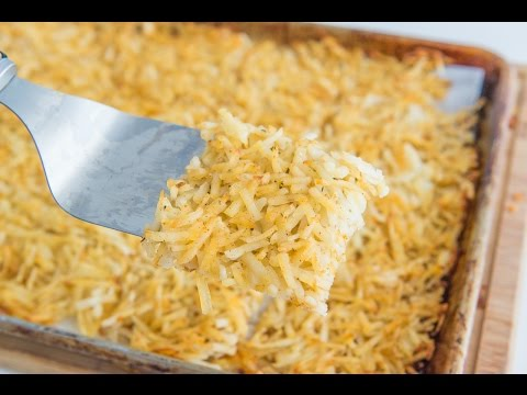 HOW TO MAKE HASH BROWNS FOR A LOT OF PEOPLE AT ONCE