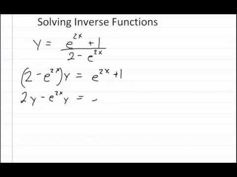 Inverse Functions f(x) =[ (e^(2x) + 1) / (2 - e^(2x))]