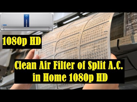 Split AC Air Filter Cleaning at Home in India