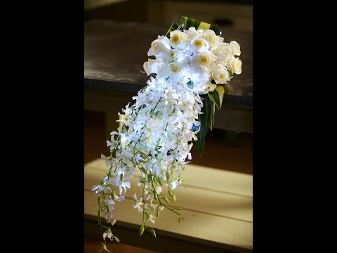 How to Arrange Flowers: Hand-Tied Cascade Wedding Bouquet!