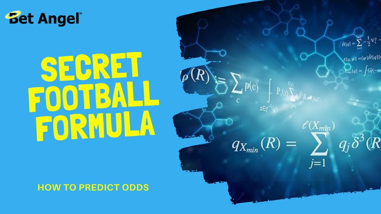 Football betting   The 'secret' formula that predicts the outcome of a football match