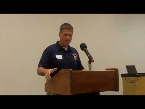 Franklin County (Missouri) Sheriff Pelton at Union First Responders Forum
