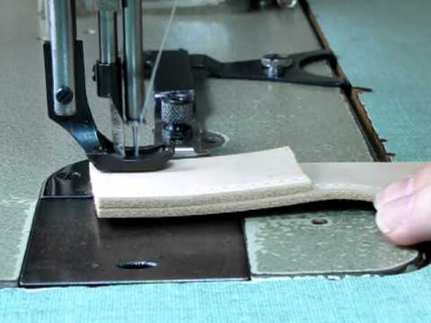 Walking foot sewing machine in action