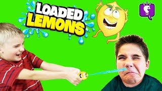 LOADED LEMONS CHALLENGE Squeeze Game! Guess Right or get Soaked With HobbyKids