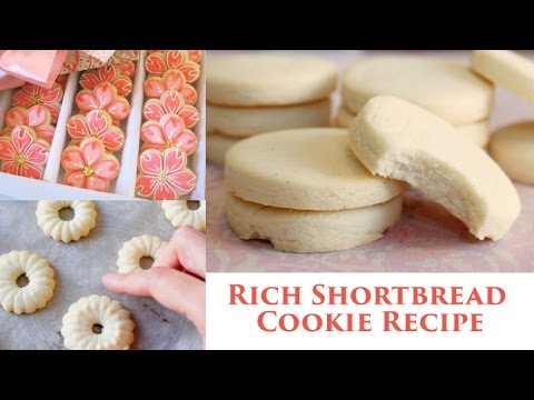 How to make Shortbread Cookies | Recipe for roll out & cookie press