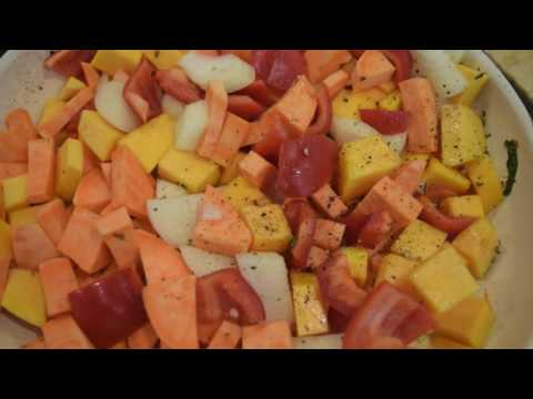 Roasted Sweet Potato and Butternut Squash