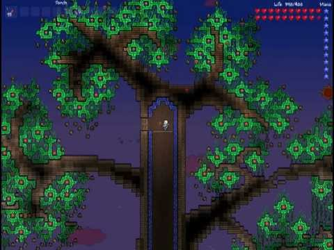 Terraria - Tree of Life hellevator