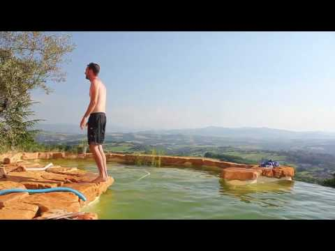 Slow Motion Backflip into the pool in Beaujolais, France.