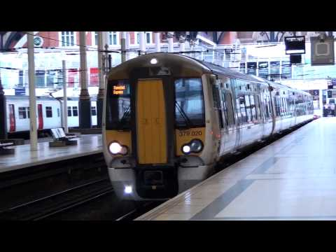 Greater Anglia 379020 Departs London Liverpool Street For Stansted Airport