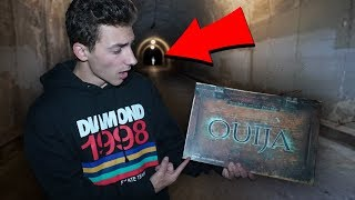 we played the ouija board in the haunted tunnel... (bad idea)