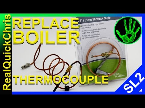 how to change the thermocouple on a boiler and how to light a pilot light