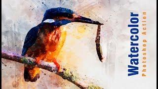 Perfectum 2 - Watercolor Artist Photoshop Action Tutorial In