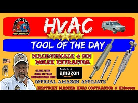 Molex Pin Extractor Tools : HVAC Tool of the Day
