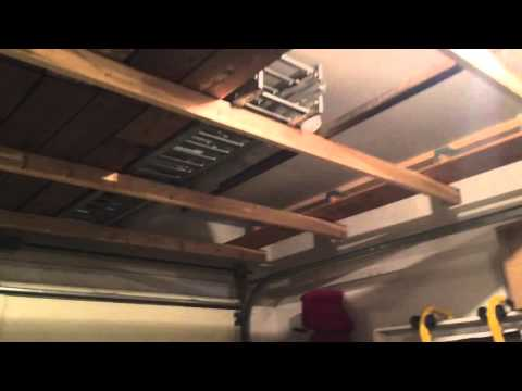 $60 above garage door storage