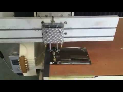 Convex bend mirror glass cutting