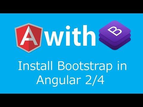 Add Bootstrap in Angular 4