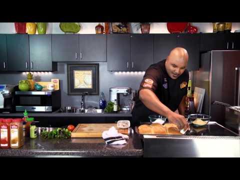 Fried Shrimp Po Boy with Wasabi Aioli