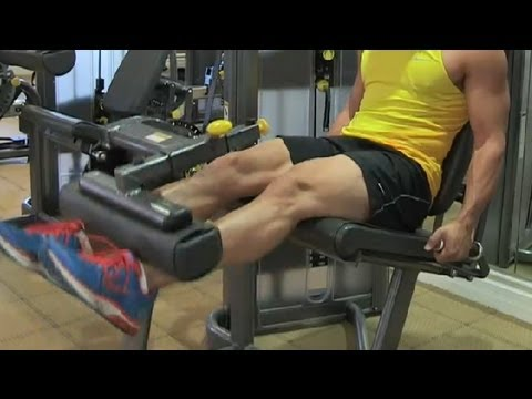 How to Build Your Legs Using Weight Machines : Bodybuilding Tips