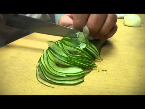 Blindfolded!! Fast and Precise Cutting Skills  - How To Make Sushi Series