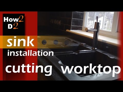 How to cut worktop for kitchen sink  Kitchen Sink installation & cut out