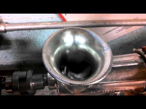 Home made meat grinder test and tune