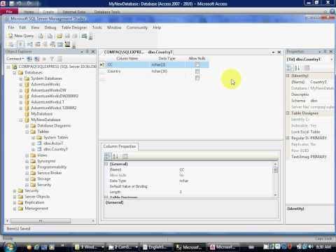 SQL Server Mini-Lesson 3A create 2nd table for Foreign Key
