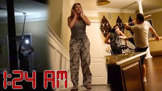 Setting off ALL ALARMS in parents house prank