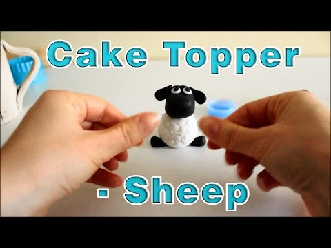 How to make a Sugar Paste Icing Fondant Sheep Cake Topper | HappyFoods