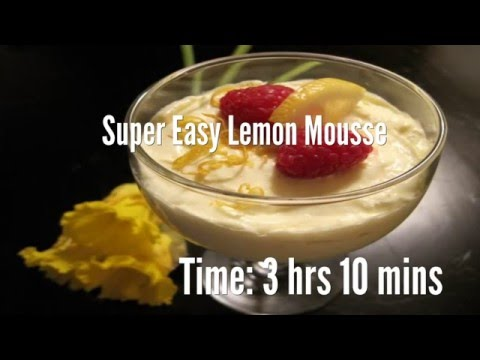 Super Easy Lemon Mousse Recipe